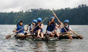 Rafting bambu